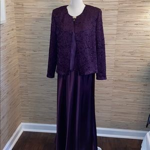 R & M Richard's purple formal 3 piece 14 EUC!